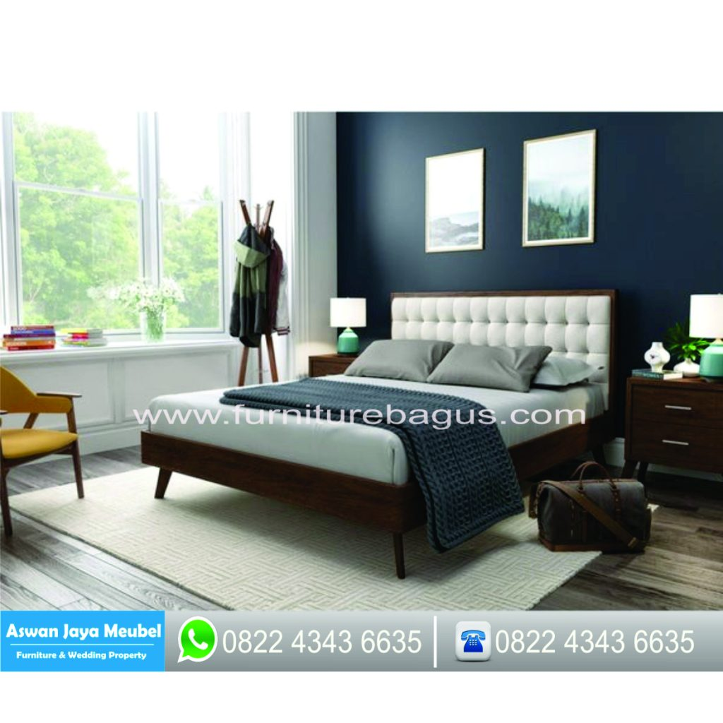 Tempat Tidur Minimalis Jati Adora