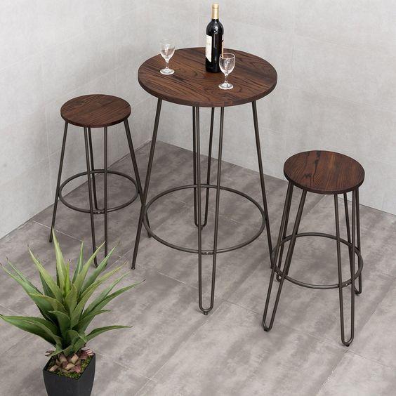 Set Meja dan Kursi Bar Adora