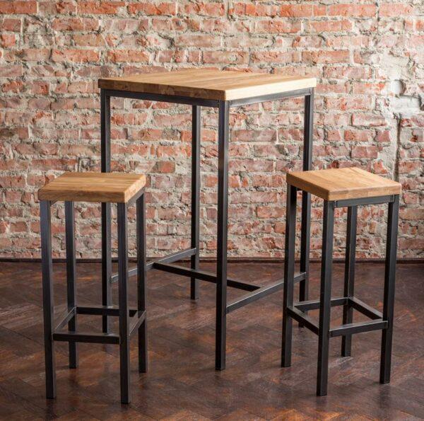 Set Meja dan Kursi Bar Maxime